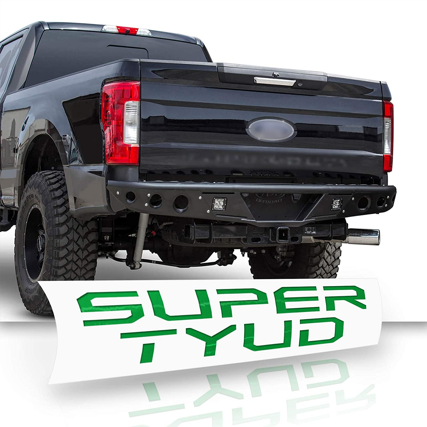Optix Tailgate Vinyl Decal Letters Overlay Trim Wrap Inserts Sticker Compatible with /& Fits F-250 F-350 F-450 F-550 Super Duty 2017-2018 Gloss Green