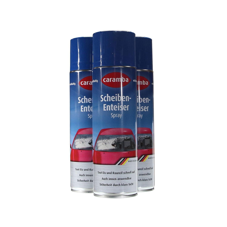 Caramba, 3 bombolette di antigelo spray, per i vetri dell'auto, 500 ml (etichetta in lingua tedesca) 3bombolette di antigelo spray per i vetri dell' auto