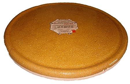 Alfarería Pereruela Siglo XVI Plato Redondo de Barro refractario auténtico, Miel, 26 cm