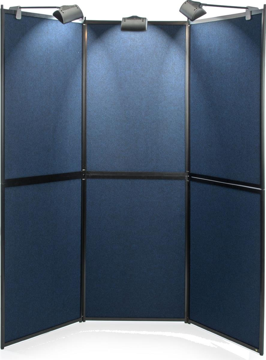 Trade Show Presentation Board, Six Panels, 72.5 x 73 Inch, Double Sided, Comes with or Without Lights by Displays2go