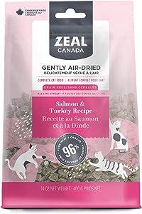 Zeal Canada air-Dried cat Food Turkey & Salmon recipe-14 oz / 400 Grams
