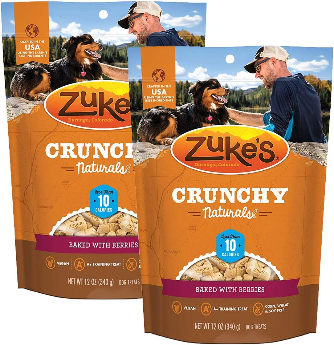 Zuke's Crunchy Naturals 10s Dog Treats, Berries-2 Pack