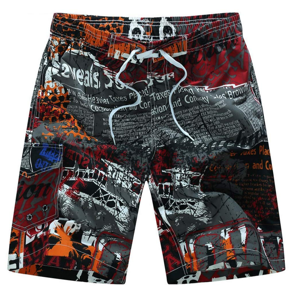 Red JHKSO JHKSO JHKSO Men's Beach Shorts Swim Trunks Quick Dry Surfing Board Shorts Breathable Sport Running Shorts 5207a6