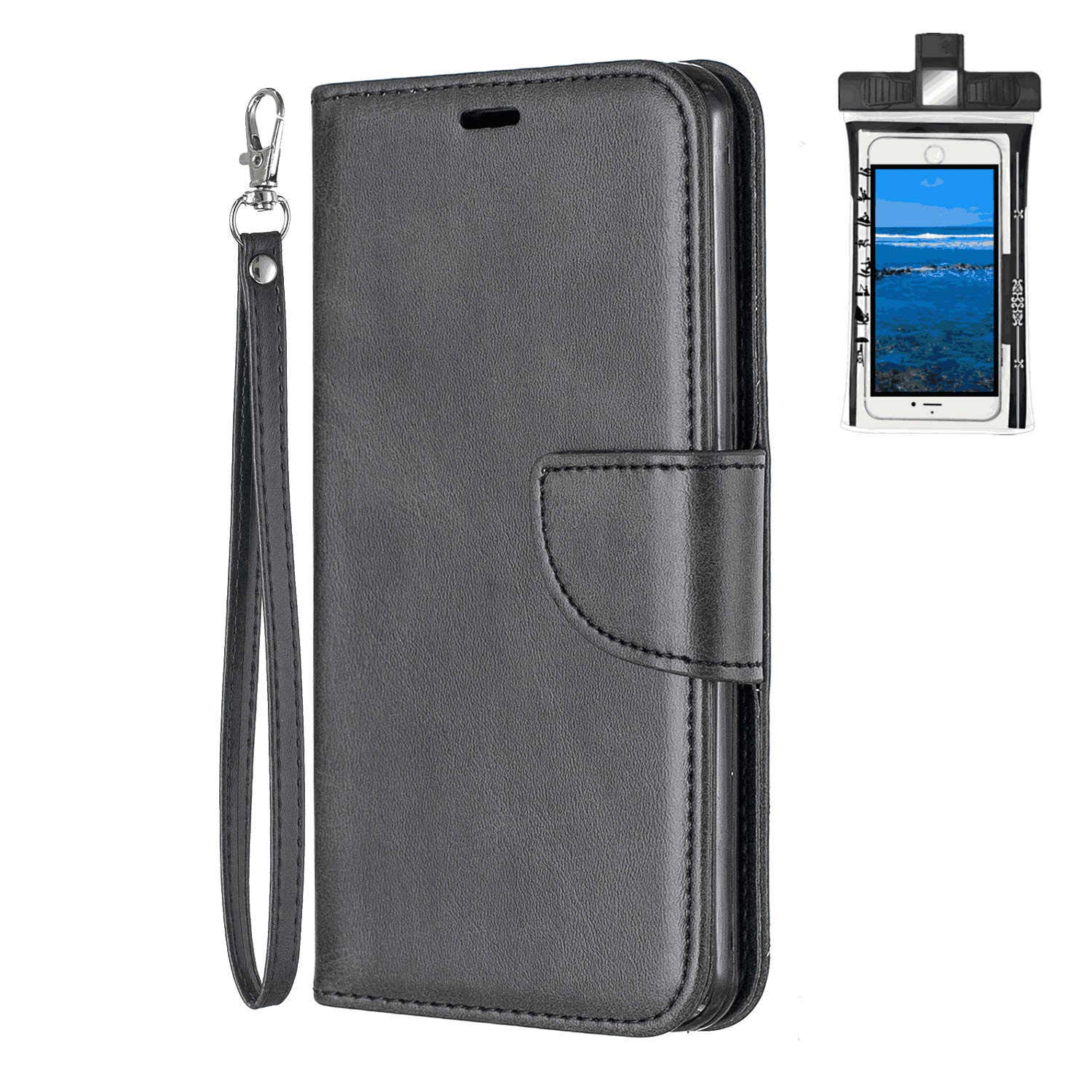 Cover for iPhone Xs Max Leather Kickstand Mobile Phone Cover Luxury Business Card Holders with Free Waterproof-Bag iPhone Xs Max Flip Case