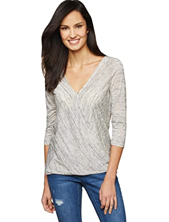 c0886d528035e Jessica Simpson Pull Over Wrap Nursing Top Heather Grey at Amazon Women's  Clothing store: