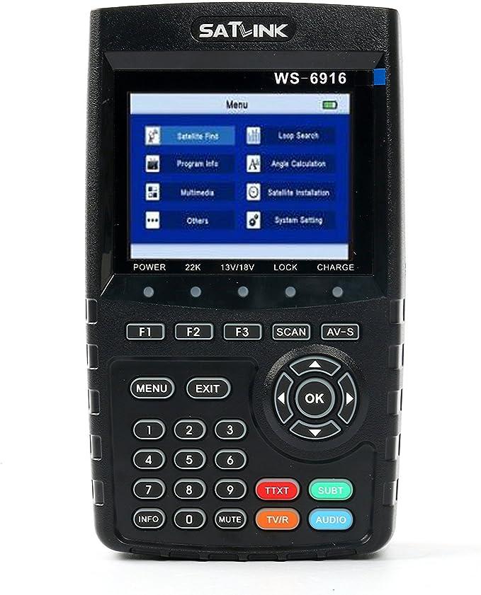MPEG-2//MPEG-4 Compliant USB Software MeterTo Digital 3.5 LCD Satellite Finder Satellite Meter Detector WS-6920 Terrestrial Signal Meter Receiver AV Output//Input HD Output Fully DVB-S//DVB-S2