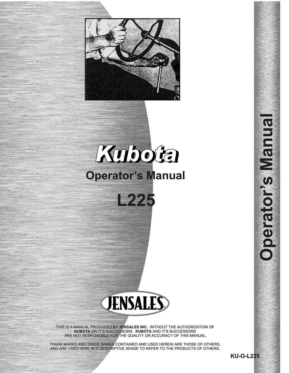 Kubota L225 Tractor Operators Manual by Jensales