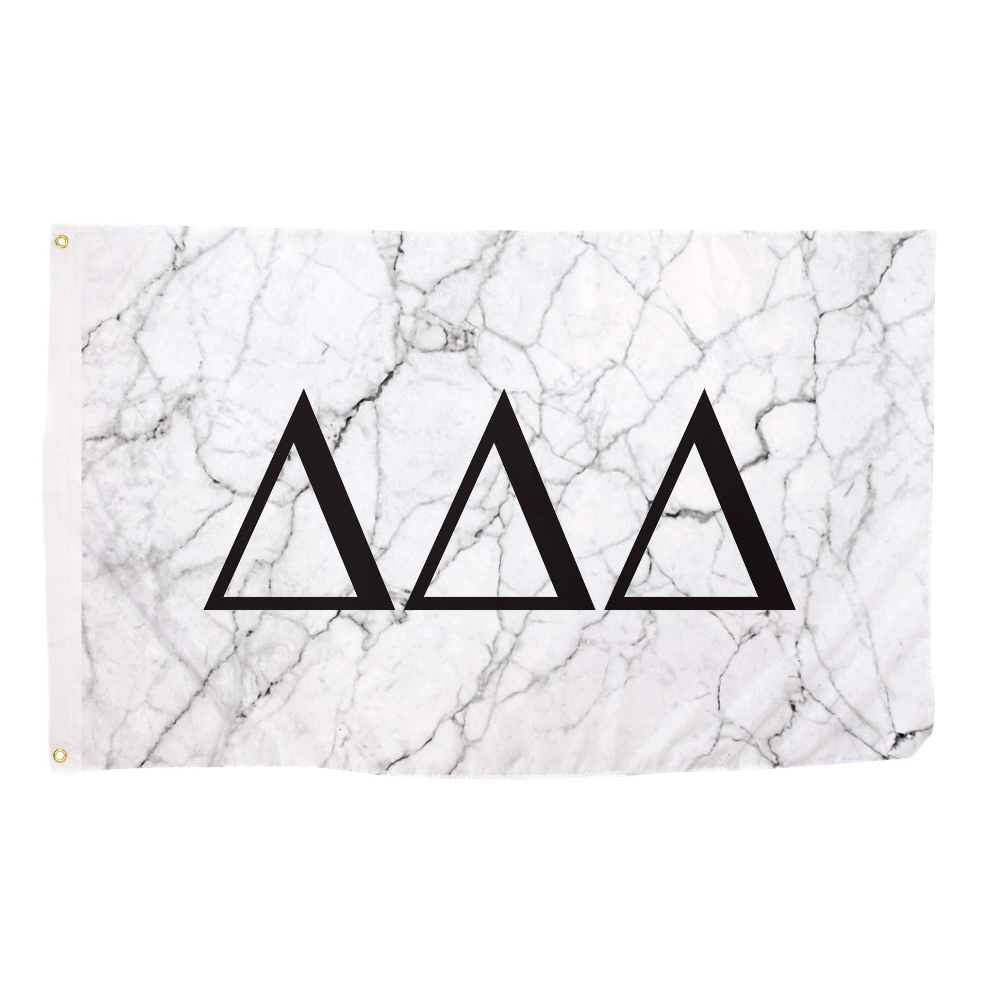 Delta Delta Delta Tri Delta Light Marble Sorority Letter Flag Banner 3 x 5 Sign Decor
