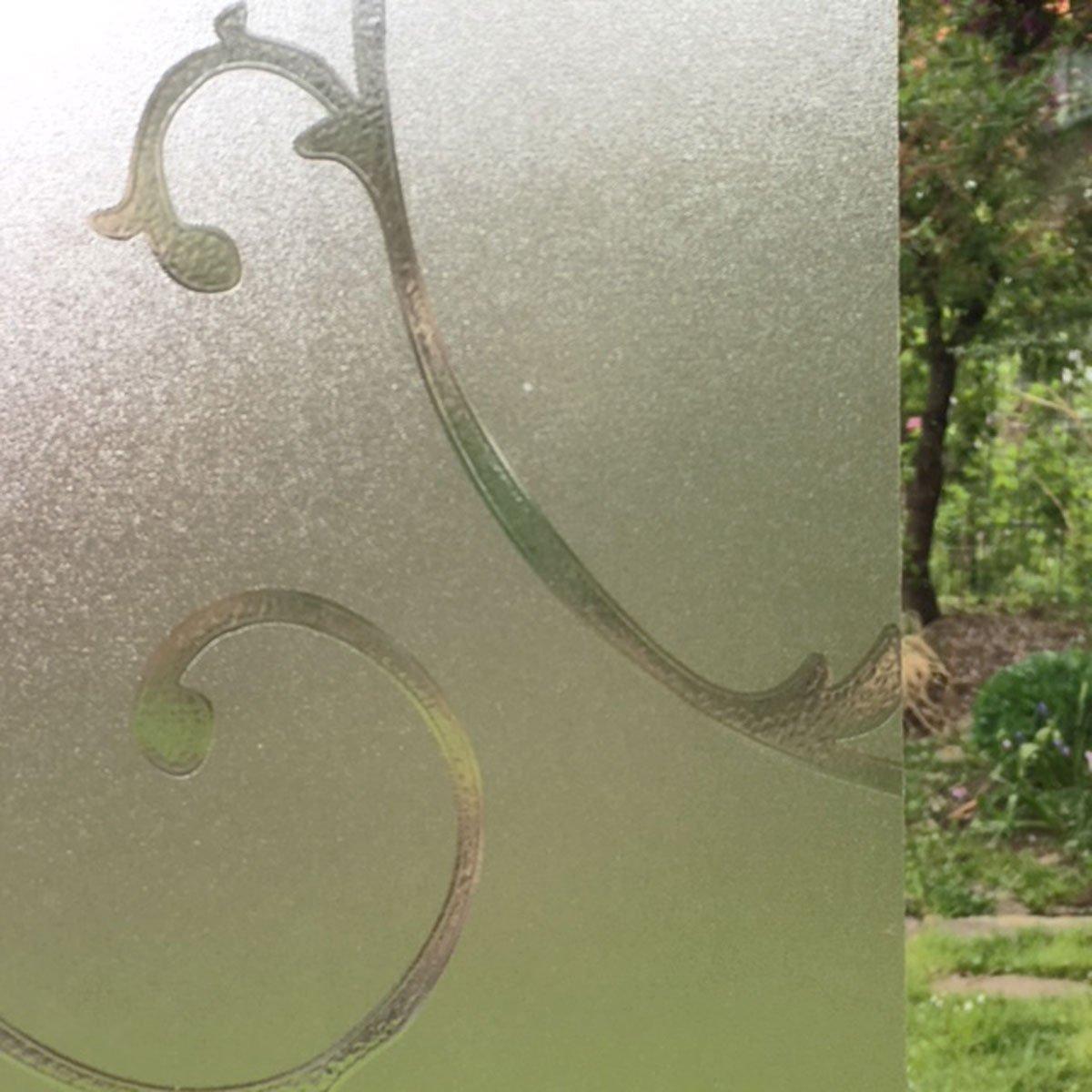 Dekorfolie statische Fensterfolie Orna Ranken Meterware 45 cm hoch Glasdekor