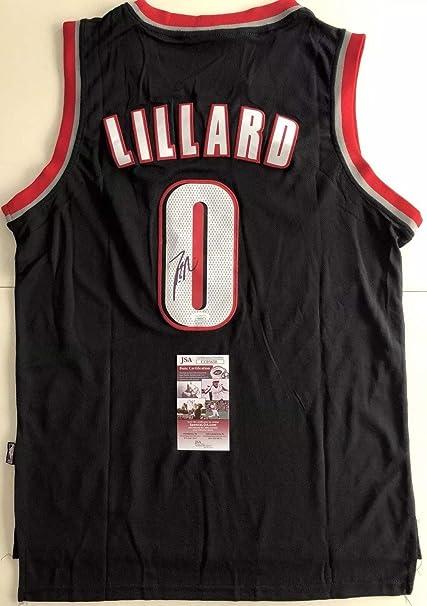 huge discount 7c828 60106 Damian Lillard Autographed Signed Portland Trailblazers ...