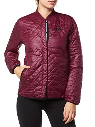 Nike Womens Sportswear Quilted Jacket Women Burgundy 854747 609 At