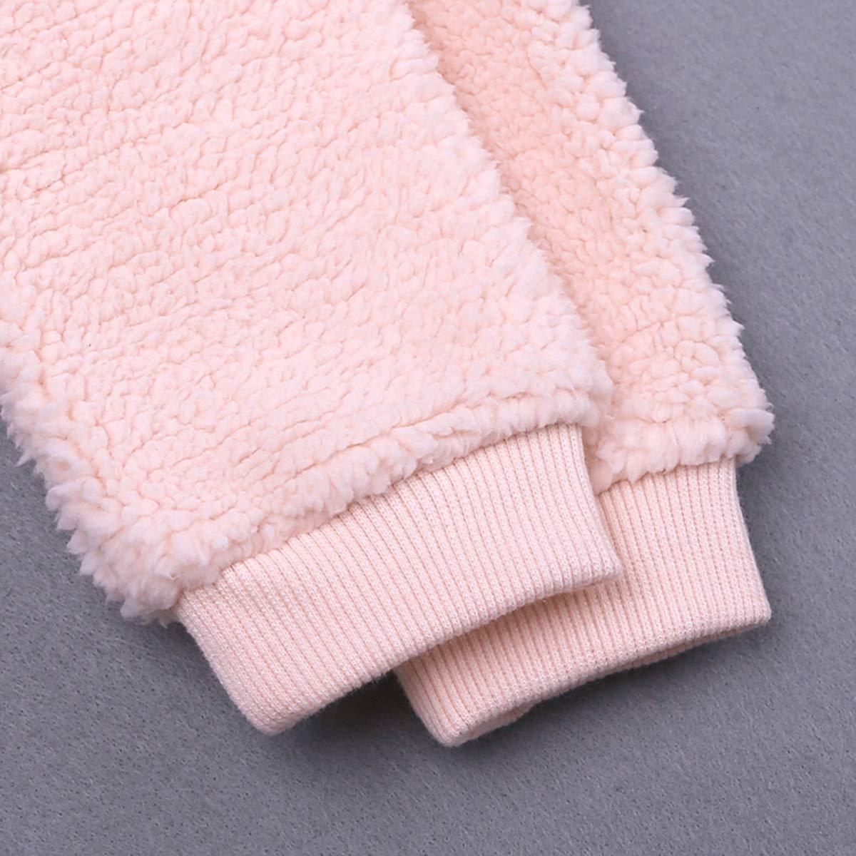 Infant Baby Girls Boys Fleece Hoodie Jacket Coat Winter Warm Cardigan with Ears