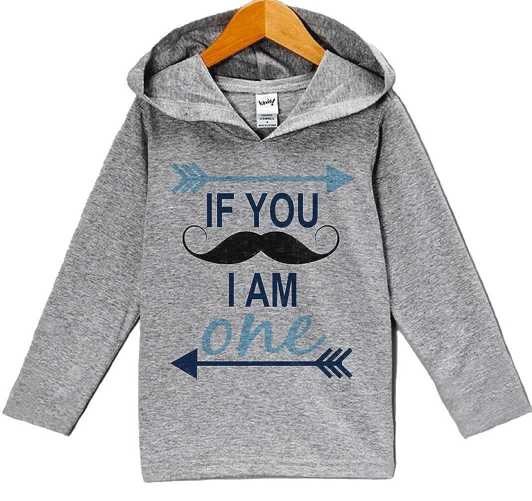 Custom Party Shop Baby Boys Novelty Mustache Birthday Hoodie Pullover