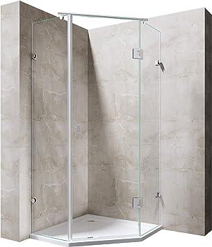 BTH: 90 x 90 x 195 cm Mampara de ducha ravenna42 Pentágono ducha ...