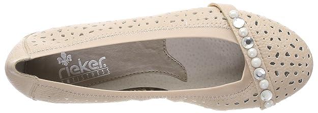 Rieker 43076, Ballerines Femme: : Chaussures et Sacs