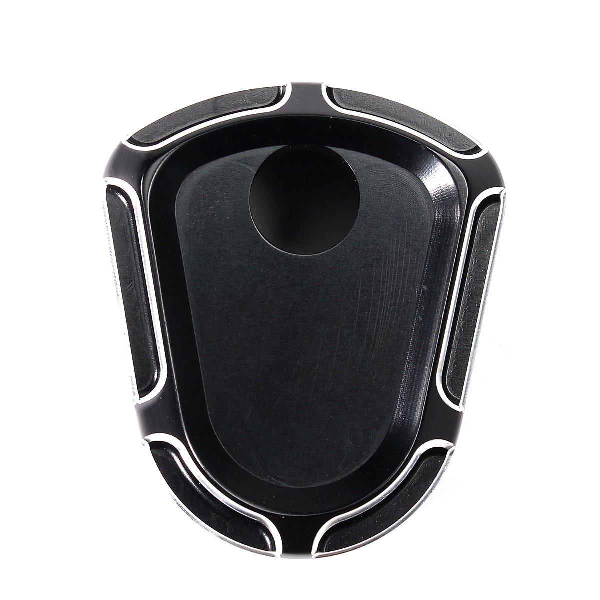 JenNiFer Black Deep Cut Ignition Switch Cover for Harley Street Glide 2007-2013