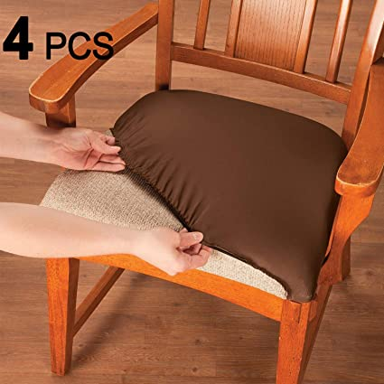 Amazoncom Voilamart Chair Seat Covers Stretchable Dining Chair