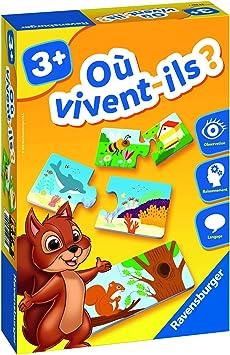 Ravensburger Jeu Educatif Ou Vivent Ils Decouverte Des Animaux A Partir De 3 Ans 24037 Amazon Fr Jeux Et Jouets