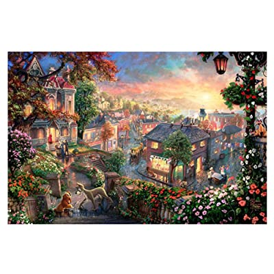 1000 Pieces Jigsaw Puzzle Adult Kids Jigsaw Decompression Game (5070cm) Tranquil Small Town: Toys & Games