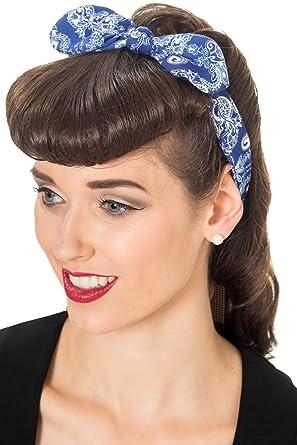 Comic strip scarf rockabilly 50/'s vintage style retro scarf headband hair scarf