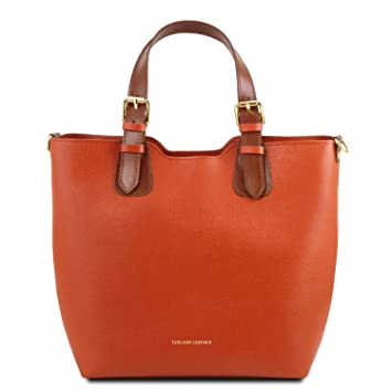 a2beeb0b4c5e5 Tuscany Leather TL Bag Handtasche aus Saffiano Leder - TL141696 (Brandy)