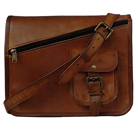 7823bfd6b81c1 Image Unavailable. Image not available for. Color: MNI Small Leather  Messenger Bag Shoulder Bag Cross Body Vintage Messenger Bag Women ...