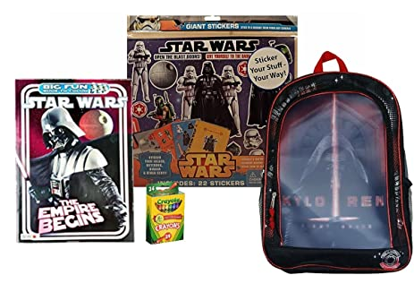 Amazon Com Star Wars Kylo Ren Backpack Coloring Book Stickers