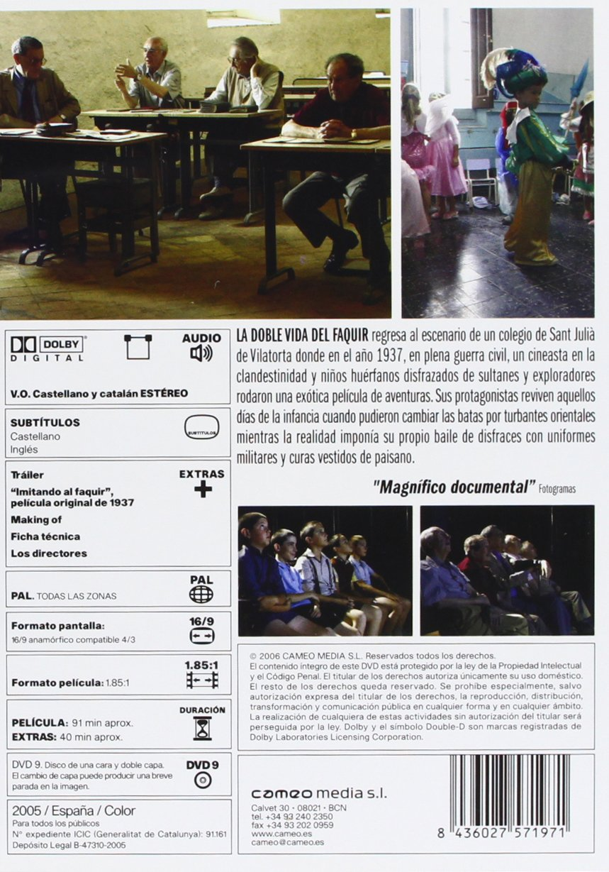 Amazon.com: The Magicians (La Doble vida del faquir)  [ NON-USA FORMAT, PAL, Reg.0 Import - Spain ]: Joan Altamira, Xavier Bagué Bonfill, Jordi Bertrán, ...