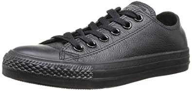a38e8028855a Converse Unisex Chuck Taylor Leather Black Leather Sneaker - 3 Men - 5 Women