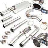 """Turbo Cat Back Stainless Steel Exhaust System Set with 3"""" Piping and 2.5"""" Tip For VW Golf/Jetta"""