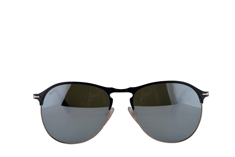 e005164d9ba4f Amazon.com  Persol PO7649S Sunglasses Blue Bronze w Light Green Mirror  Silver Lens 56mm 107330 PO 7649-S PO7649-S PO 7649S  Clothing