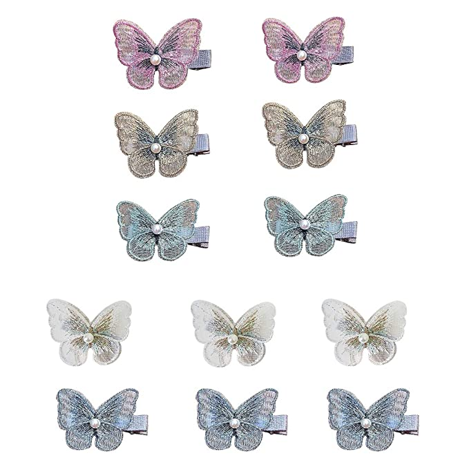 2PCS Butterfly Hairpin Ladies BB Hair Clips Pins Accessories Barrettes Headdress