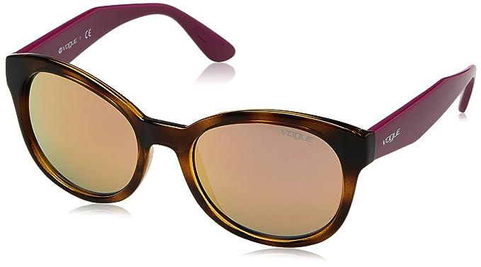 Vogue Eyewear 0VO2992S W6565R 53 Gafas de Sol, Marrón (Dark Havana/Greymirrorrosegold), Mujer