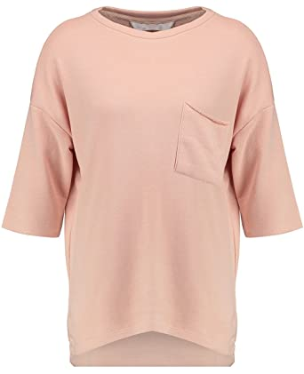 01828134297 Blue Inc Woman Womens Nude Oversized Pocket Long Sleeve Sweater T-Shirt  Jumper 8  Amazon.co.uk  Clothing