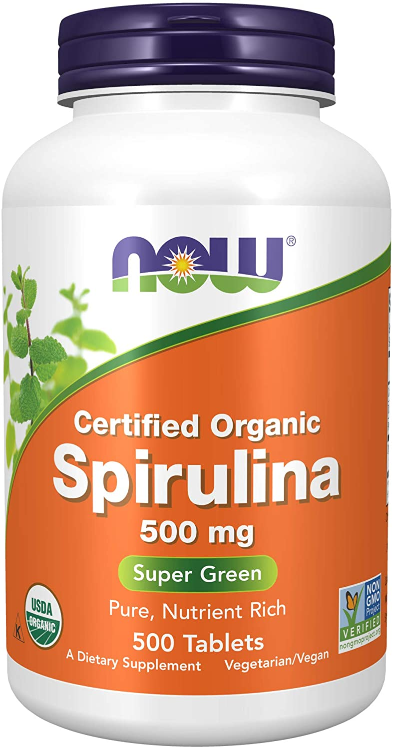 Now Foods Organic Spirulina Tablets, 500: Health & Personal Care