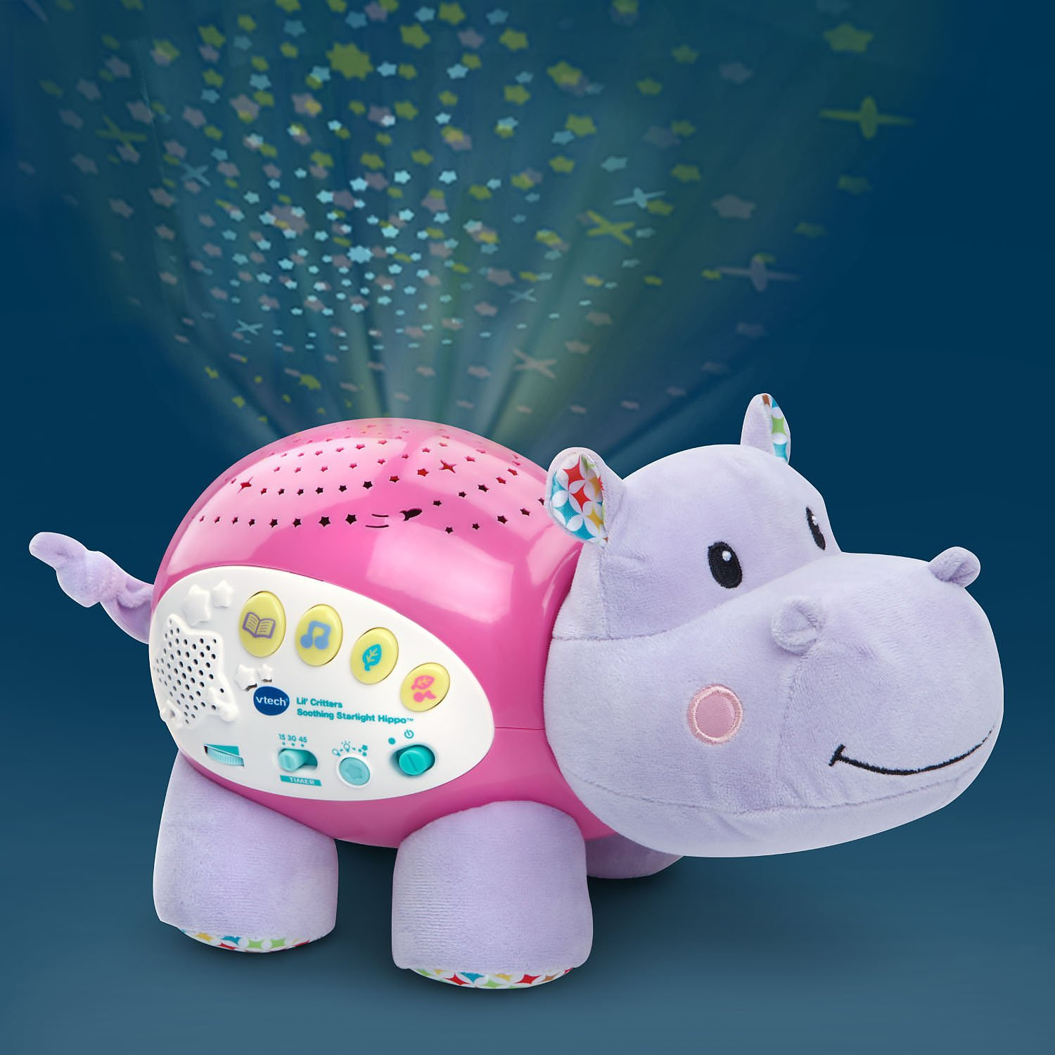 VTech Baby Lil' Critters Soothing Starlight Hippo, Pink (Amazon Exclusive) by VTech (Image #3)