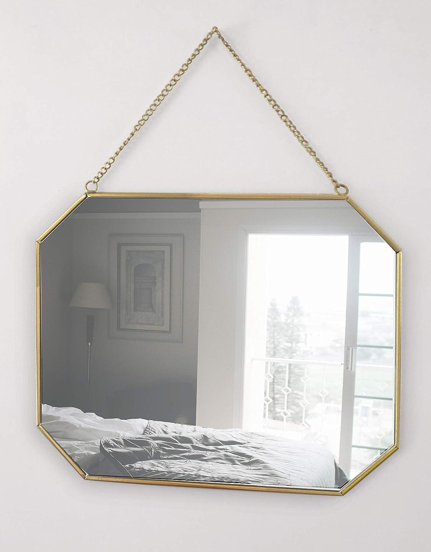 Oro Specchio rettangolare da parete colore GreyZook