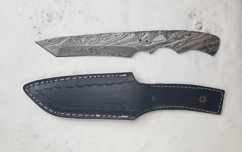 Payne Bros Custom Knives Damascus Blade Blanks with Basic Sheath/Knife Making/Knife Kits/