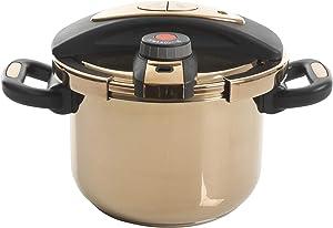 Kenmore Bloomfield Pressure Cooker, 6-Liter, Rose Gold
