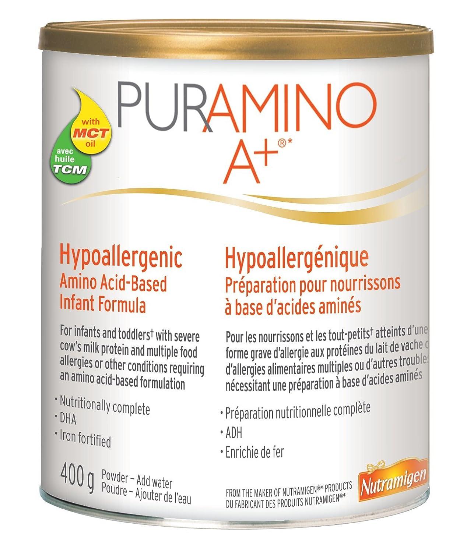 Puramino A+ Hypoallergenic Infant Formula, Powder, 400g Mead Johnson & Company CA