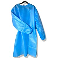 SIPA (20/30/40/50PCS) Disposable Gown,Protective Suit,Isolation Gowns,Disposable Isolation Clothing (Blue) (20, Medium)