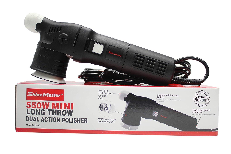 12mm Orbit//550 Watt ShineMaster Maxshine M312 DA//Dual Action Polisher with 3 Backing Plate