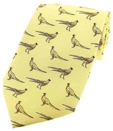 David Van Hagen corbata en colores pastel amarillo que se coloca ...