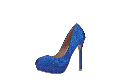 7e15d60f75a Mila Lady ELVA09 Women Fashion Embellished Sparkles Party Pumps High Heel  Stilettos Sexy Slip On Dress Shoes