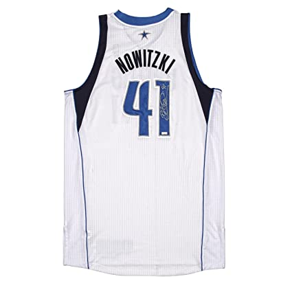 uk availability c739b 4d41e Dirk Nowitzki Autographed Game Worn Jersey from the 2011 ...