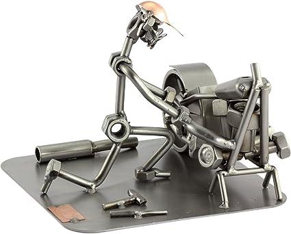 Steelman24 I Figurine en m/étal Jeu De Fl/échettes avec Plaque De Gravure I Made in Germany I Id/ées Cadeaux I Sculpture d/'Acier I Hommes de M/étal