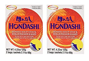 Ajinomoto - Hon Dashi (Soup Stock) (Hondashi 4.23 oz x 2 Pack)