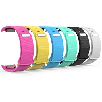 348b79b6095f MoKo Samsung Gear Fit2 Correa, 6x Watch Band Deportiva de Silicona Suave  Reemplazo Sport Band para Samsung Gear Fit 2 SM-R360 Smart Watch,  Multicolor ...