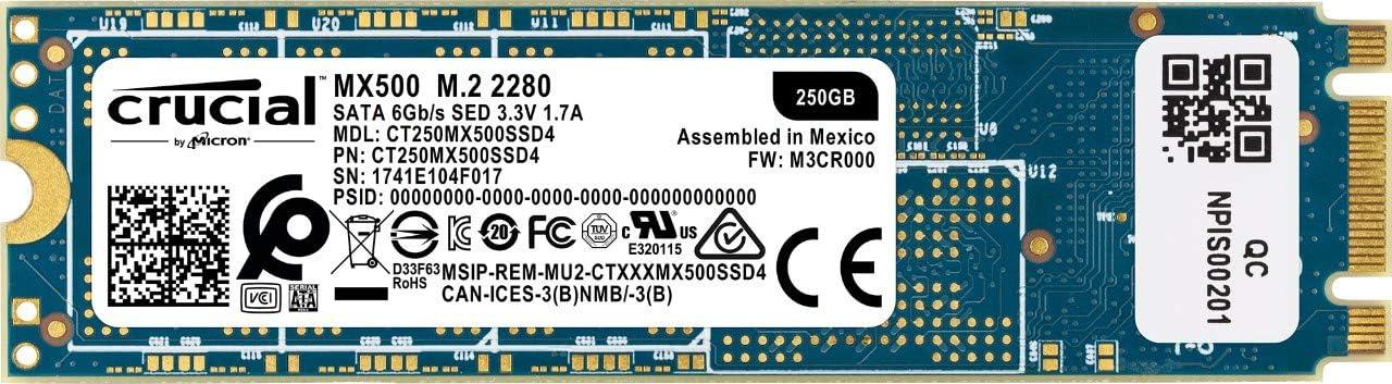 Crucial MX500 CT250MX500SSD4 - Disco duro sólido interno SSD de ...