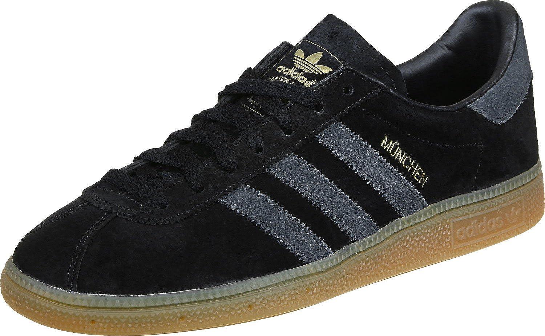 adidas Munchen Trainers Black Dark Grey